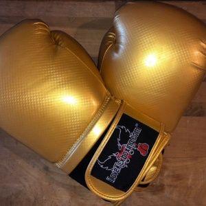 I Love Kickboxing Gold Boxing Gloves 14oz